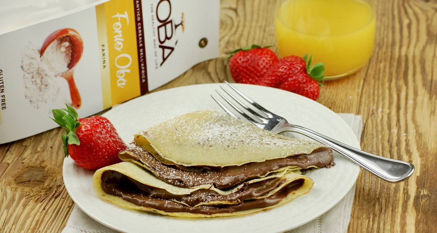 Crepes with Fonio wholemeal flour