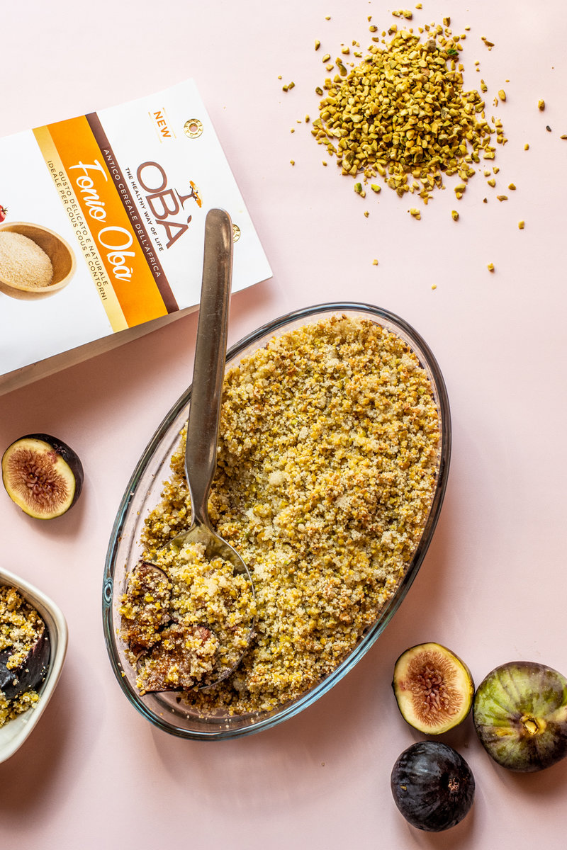 Figs crumble with Fonio