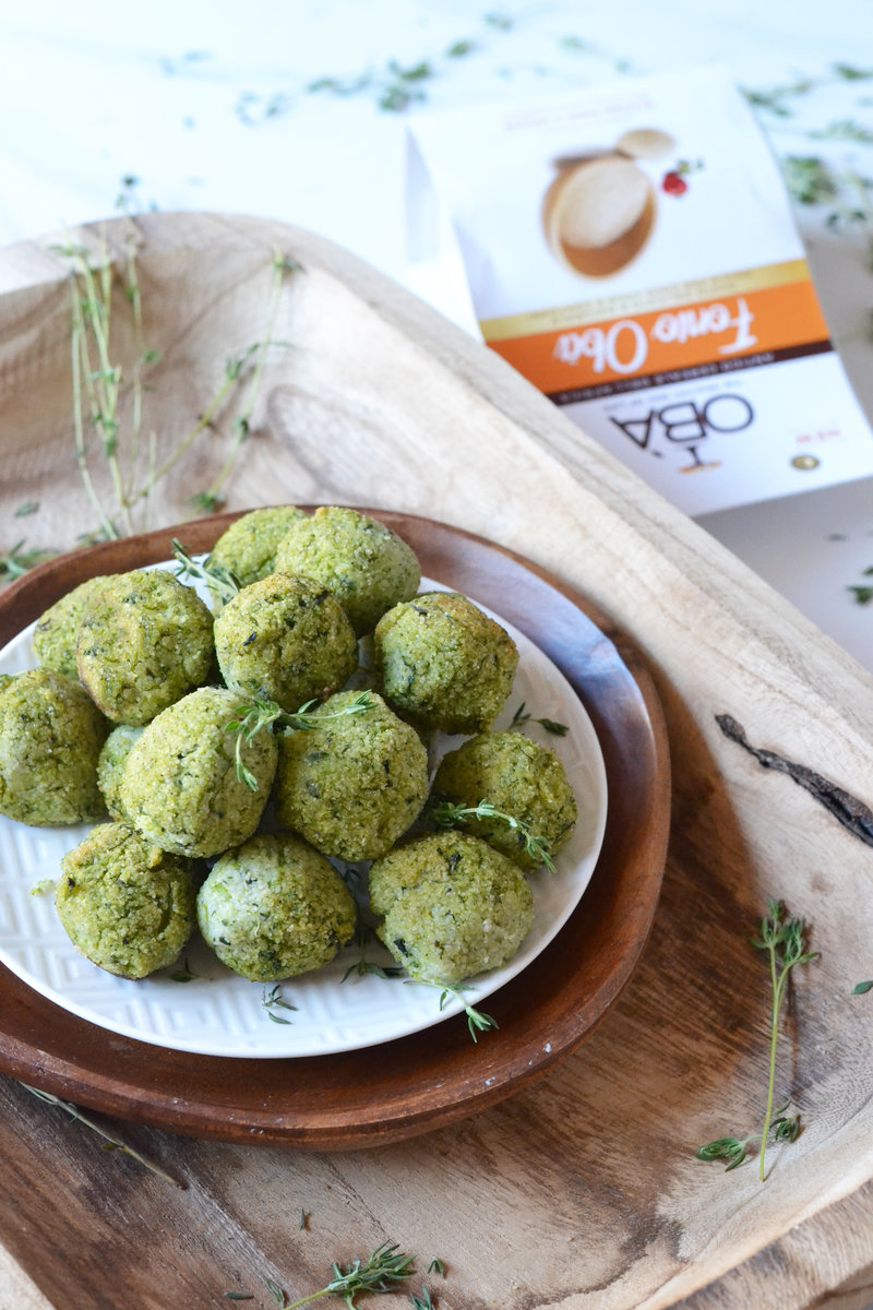 Fonio balls with vegeables