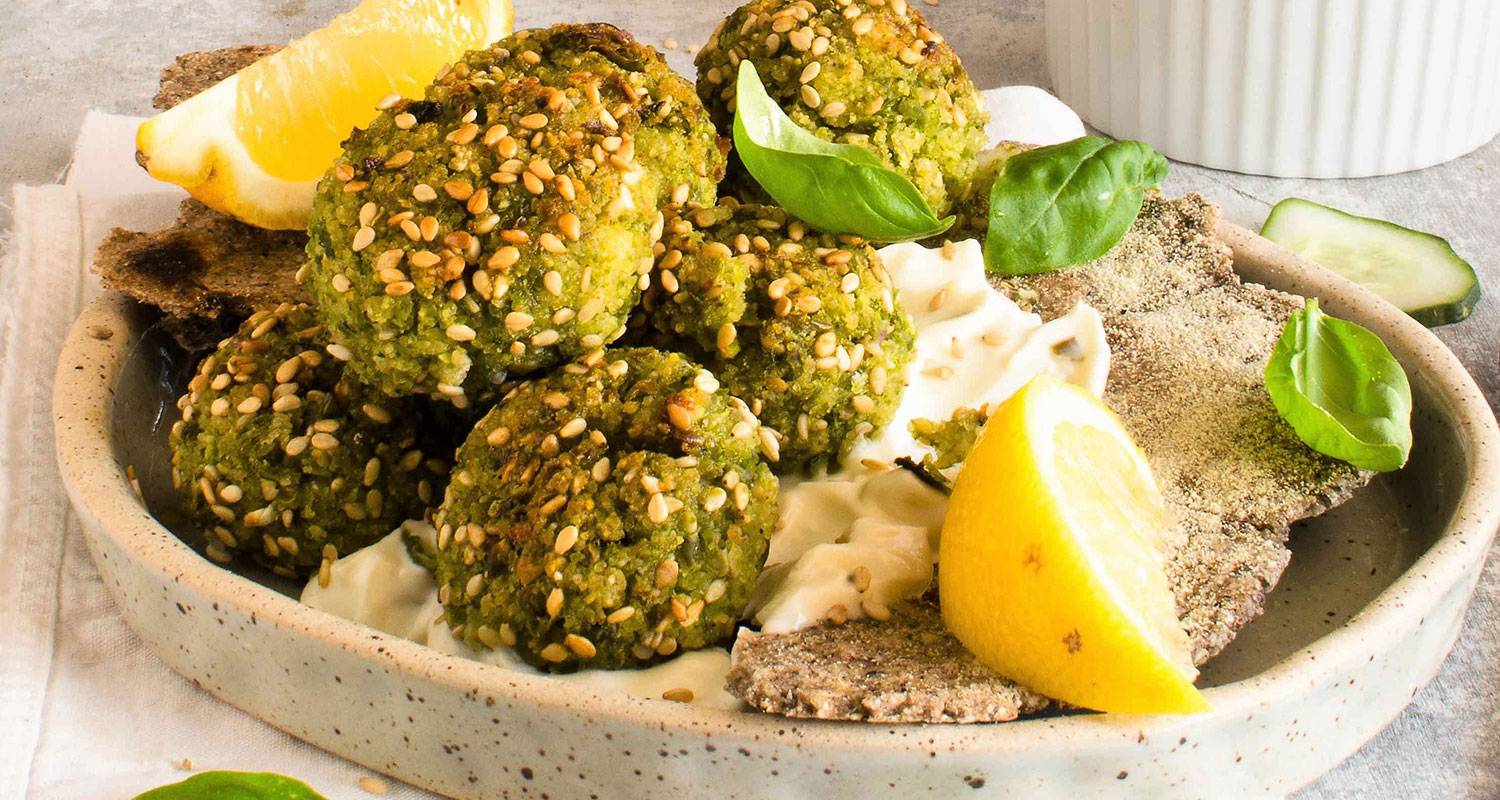 Falafel of Fonio and peas